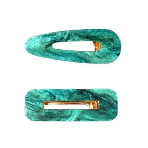 Marbled Slide Hair Clip Duo Mermaid